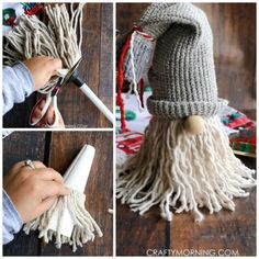 Creative Halloween Crafts for Kids to Make - Crafty Morning - Happy Christmas - Noel 2020 ideas-Happy New Year-Christmas Christmas Gnome, Diy Christmas Gifts, Christmas Projects, Holiday Crafts, Christmas Ornaments, Christmas Trees, Primitive Christmas, Country Christmas, Handmade Christmas