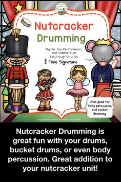 Great addition to your nutcracker unit. Movement Activities, Music Activities, Education Humor, Music Education, Physical Education, Health Education, Drum Lessons, Music Lessons, Bucket Drumming