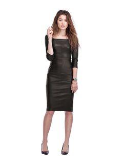 Baukjen Monmouth leather shift dress