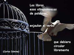 """El blog de Carlos Dómine: """"Los libros, esos atrapamoscas de palabras, enjaulan…"""