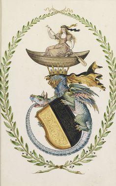German School, 17th Century, Design for Coat of Arms