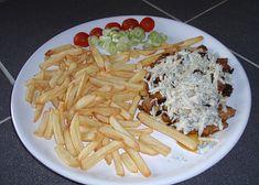 Dobrou chuť Spaghetti, Meat, Chicken, Ethnic Recipes, Food, Essen, Meals, Yemek, Noodle