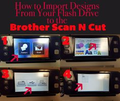 How to import designs from your flash drive to the Brother Scan N Cut