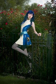 Alice Circle Skirt | Dawnamatrix Latex Clothing -- Love this whole outfit, but I really like the skirt.
