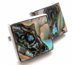 Vintage Inlay Abalone Shell Cuff Links Sterling Silver Men's Cufflinks Square | Jewelry & Watches, Vintage & Antique Jewelry, Costume | eBay!