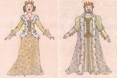 Ever After musical costume concept art - Jess Goldstein - The Queen and King