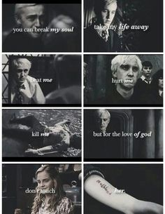 Image result for draco malfoy and hermione granger love quotes