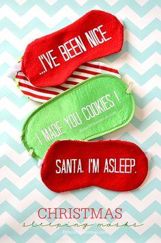 Christmas Gift - Adorable DIY Sleeping Mask Tutorial. #christmas #gifts #the36thavenue