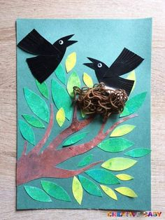 Rook, Craft Activities, Tween, Art For Kids, Rooster, Moose Art, Arts And Crafts, Spring, Fall