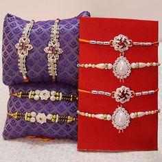 Dazzling & Beautiful  #SilverRakhiOnline at http://rakhi.primogiftsindia.com/silver-rakhi-735.html