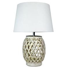 Lattice Resin Table Lamp