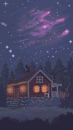 vaporwave art [OC] The night sky : PixelArt Pixel Art Gif, Cool Pixel Art, Anime Scenery Wallpaper, Wallpaper Backgrounds, Phone Backgrounds, Animes Wallpapers, Cute Wallpapers, Phone Wallpapers, Pixel Art Background