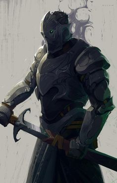 Cursed knight by sirallon Fantasy Character Design, Character Design Inspiration, Character Art, Character Creation, Character Ideas, Fantasy Armor, Dark Fantasy Art, Medieval Fantasy, Dnd Characters