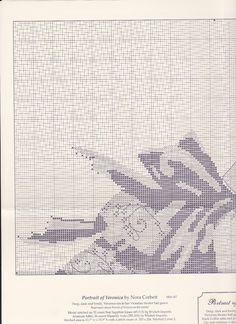 Todo Mirabilia (pág. 199) | Aprender manualidades es facilisimo.com Cross Stitching, Pattern Fashion, Veronica, Cross Stitch Patterns, Tapestry, Embroidery, Crochet, Crossstitch, Fairy