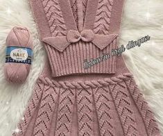 U Happy days . I wish you a nice week . - Nurcan Pelek - - U Happy days . I wish you a nice week . Knit Baby Dress, Knitted Baby Clothes, Baby Cardigan, Crochet Clothes, Crochet Patterns For Beginners, Baby Knitting Patterns, Knitting Designs, Baby Patterns, Knitting For Kids