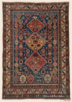 - Antique Southern Caucasian Gendje rug x with diamond medallions and tribal devices Antique Rug - Claremont Rug Company Stair Rug Runner, Persian Carpet, Persian Rug, Rug Company, Eclectic Rugs, Farmhouse Rugs, Rustic Rugs, Colorful Rugs, Rugs On Carpet
