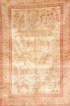 Silk Qum (Signed),, Silk Qum (Signed), Persia, circa 15 years old, pure silk, approx. 150 x 100 cm