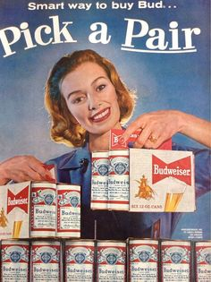 Great Retro Budweiser Beer Ad Awesome Paper by TheVintageEmpress, $6.00