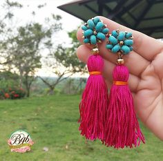 Cute Tassel Earrings Tassel Earrings Outfit, Tassel Jewelry, Diy Earrings, Diy Jewelry, Beaded Jewelry, Jewelry Accessories, Handmade Jewelry, Fashion Jewelry, Jewelry Making