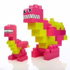Dinosaurs made with Mega Bloks!
