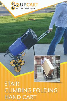 Now stairs are the least of your worries with UpCart, the stair-climbing folding cart! UpCart reduces the effort required going up and down stairs and makes your job easy. Head to www.BuyUpCart.com and save $10 off your new UpCart with promo code Save10.