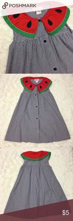 Vintage Samara Watermelon Collar Dress Excellent vintage used condition, but please notice there is a button missing at the very bottom. Girls Size 6x Vintage Samara Watermelon Collar Button Front Sundress.               💎Price is Firm💎     ⭐️15% Off All Bundles ⭐️     💞💞💞💞💞💞💞💞💞💞 Samara Dresses Casual