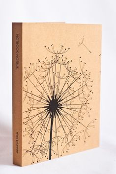 Mini Kraft Weekly Planner  Dandelion Print by NotbookNotbuk, $11.50