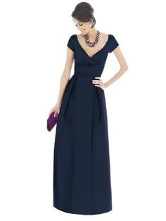 Alfred Sung Bridesmaid Dress D501 midnight (just like the other, but this is silk dupioni) *this is the one*