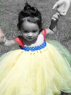 Beautiful Snow White Tutu Dress. $28.00, via Etsy.