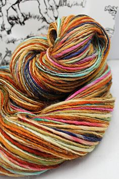 Handspun Yarn Gently Thick and Thin Single by SheepingBeauty, $42.00