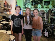 The Stonefield girls visit Revolver Drums