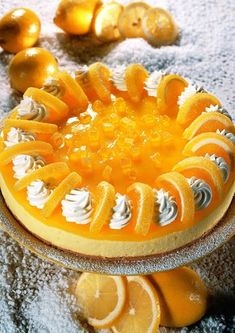 Narancsos krémes torta Hungarian Desserts, Hungarian Recipes, Orange Creme, Cheesecake, Quiche, Sweet Pie, Healthy Dishes, Cakes And More, My Recipes