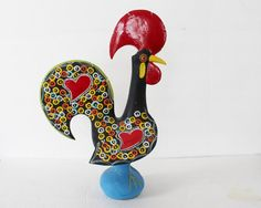 Vintage Rooster Made In Portugal Portuguese 15 By ThirdHandShoppe