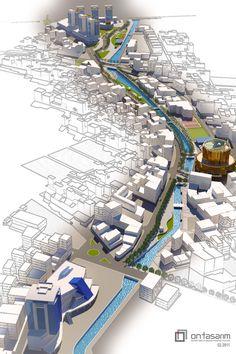 Aydin Tabakhane River UD Viz by bearsign.deviantart.com #landarch #peymim