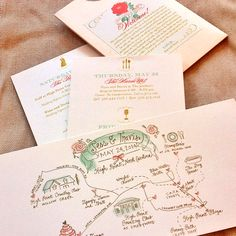 Hand drawn wedding #map included in the #wedding #weekend itinerary I Custom by Nico and Lala