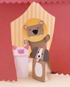 Paper Bag Puppet|12 Rainy Day Crafts for Kids
