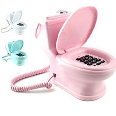 Creative toilet closestool shaped wired telephone