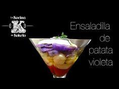 Ensaladilla de patata violeta y alioli de lima