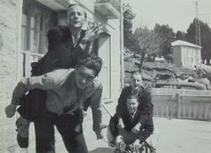Vintage 30's Photo - Young Men Fooling Around in Font Romeu, France by ChicEtChoc on Etsy