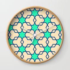 Retrostar #2 (By Salomon) #print #lamina #clock #frame #decor #decoration #decoracion #interior #home #wall #casa #frame #pattern #mosaic #mosaico #stars #universe #retro #society6 @society6