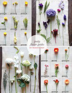 Flowerguide via Wedding Chicks