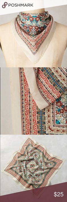 Anthropologie Silk Scarf New with tag, silk Anthropologie Accessories Scarves & Wraps
