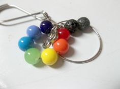 Aromatherapy Keychain Chakra Essential Oil Car by SerendipityWorld