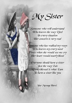 Sisters Poems Sister Poems Image Search Results Food Pinterest Sister Poem Poem And