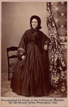 Washington City Widow, Albumen Carte de Visite, Circa 1863