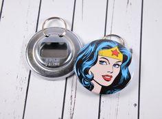 Wonder Woman Bottle Opener WonderWoman Keyring Comic by PointyPins, $5.00
