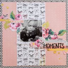 Moments - Ida Rosberg #cratepaper #maggieholmes Layout using products from Crate Paper and Maggie Holmes!