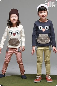 Happy Owl Tee for boys and girls. Cool kids fashion at Color Me WHIMSY this fall season.