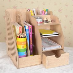 :) desk with drawers is made out paper box Cardboard Storage, Cardboard Crafts, Diy Storage, Cardboard Tubes, Cardboard Organizer, Drawer Storage, Storage Rack, Diy Home Crafts, Diy Arts And Crafts