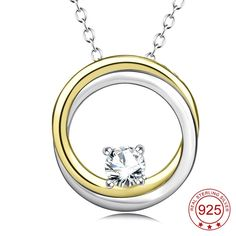 It doesn't get any better than this!   YFN Genuine 925 S...   http://www.zxeus.com/products/yfn-genuine-925-sterling-silver-circle-of-life-two-circles-interlocking-cubic-zirconia-pendants-necklaces-jewelry-for-women?utm_campaign=social_autopilot&utm_source=pin&utm_medium=pin